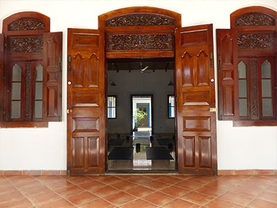 entrance to Surf School Sri Lanka