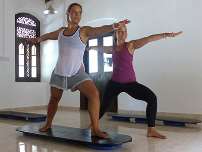 balance and yoga at Surf School Sri Lanka