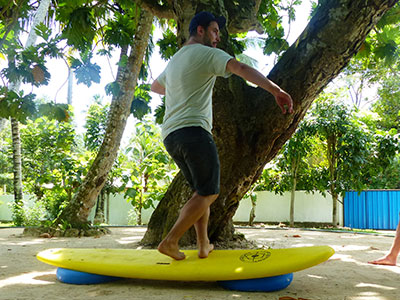 balance training at surf school sri lanka
