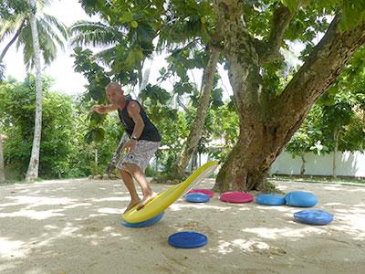 balance training at surf school sri lanka