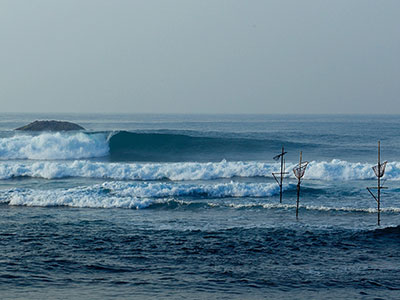 early morning waves at surf school sri lanka