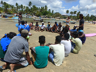 group surf instructor training sri lanka
