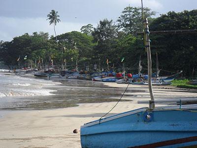 the beach at Surf School Sri Lanka