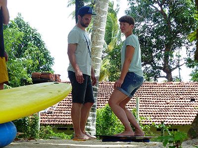 surf coaching on the water