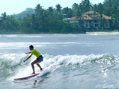 learning to jump up with Surf School Sri Lanka