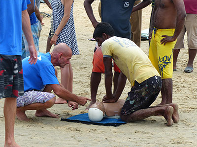 surf instructor training sri lanka on our beach