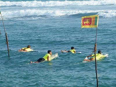 big wave at Surf School Sri Lanka
