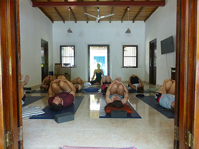 yoga at Surf School Sri Lanka